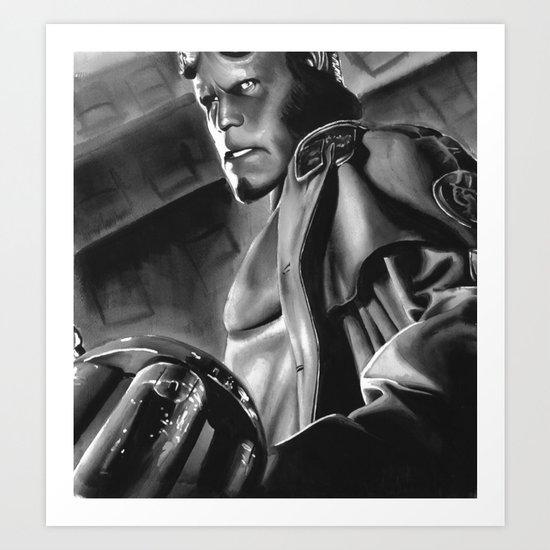 hell boy Art Print