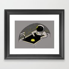Space bath Framed Art Print