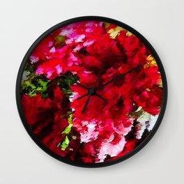 Red Gerbera Daisy Abstract Wall Clock