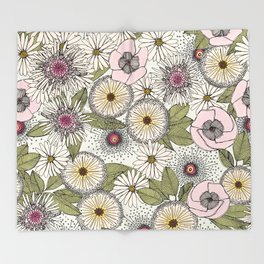 Australian garden chalk Throw Blanket