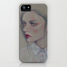 Girl With A Chiffon Blouse iPhone Case