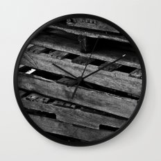 Abstract Wooden Pallets Wall Clock