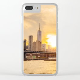 New York city skyline at sunset Clear iPhone Case