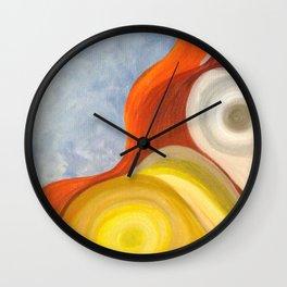 Cadmium Wave Wall Clock