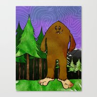 sasquatch Canvas Prints featuring Sasquatch by Michael Scott Murphy