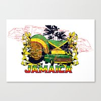 jamaica Canvas Prints featuring Jamaica by Tshirt-Factory