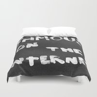 internet Duvet Covers featuring Famous on the Internet by LeeAna Benson