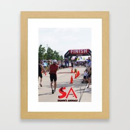 Shawns Anomaly Finish Line Framed Art Print