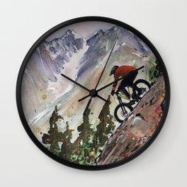 Downhill Biker Wall Clock