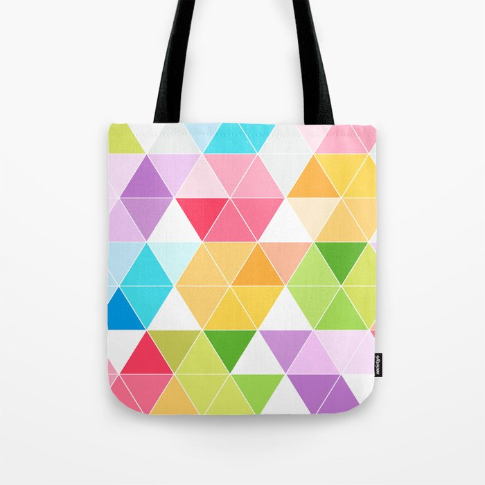 Colorful Triangle Mosaic Tote Bag