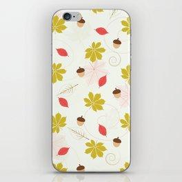 Autumn Pattern iPhone Skin