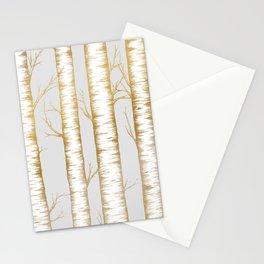 Metallic Birch Trees Stationery Cards
