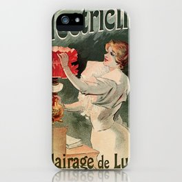Electricine, French luxury lighting vintage ad iPhone Case