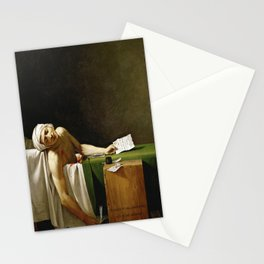 Jacques-Louis David's The Death of Marat Stationery Cards