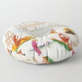 """Florine Stettheimer """"Llake Placid"""" Floor Pillow"""