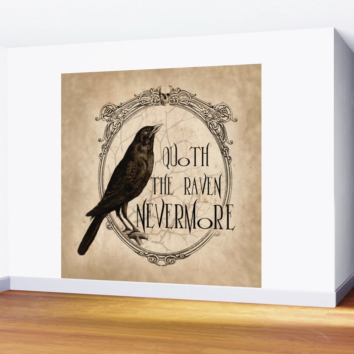Quoth the Raven Nevermore Wall Mural