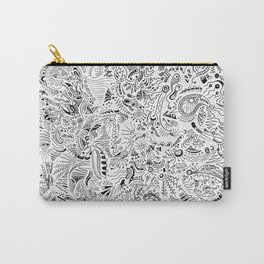 Organic forms on white Carry-All Pouch
