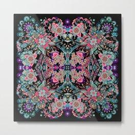Mandala Colorful Boho Metal Print
