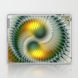 Like Yin and Yang, Abstract Fractal Art Laptop & iPad Skin
