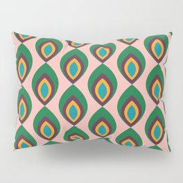 Peacock feather pink #homedecor #midcenturydecor Pillow Sham