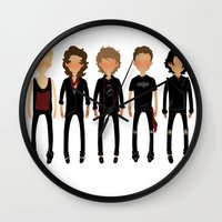 cargline Wall Clocks featuring Black Out by cargline