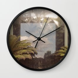 Sky in Glasshouse Wall Clock