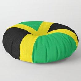 Jamaican flag, flag of Jamaica Floor Pillow