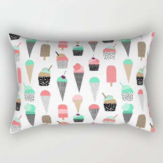 Ice Cream - Summer fresh modern minimal print pattern design gifts for college  Rectangular Pillow