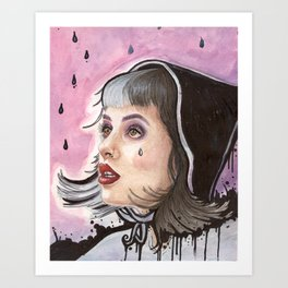 Grunge Melanie Art Print