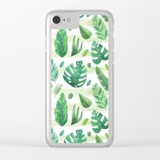Tropical Stripes Clear iPhone Case