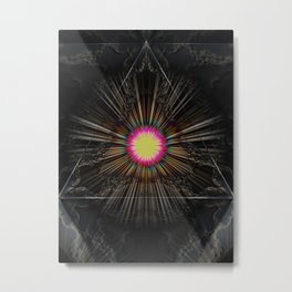 Triangle of light. Metal Print