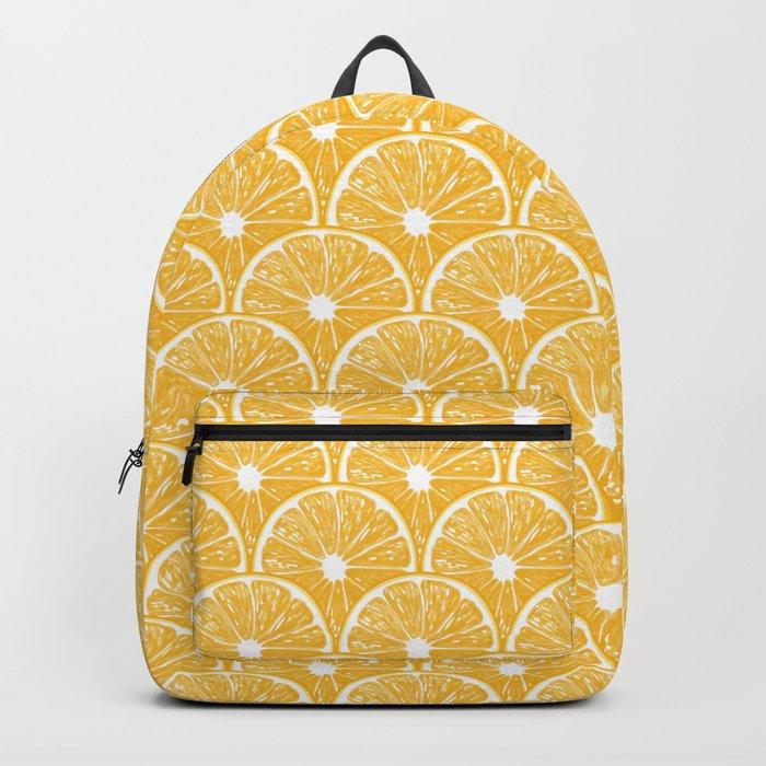 Orange slices, tropical fruit pattern design Backpack