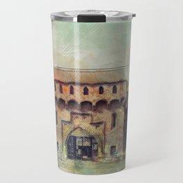 Cracow Barbican art Travel Mug