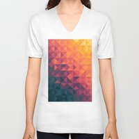 gradient V-neck T-shirts featuring Infinity Twilight by Picomodi