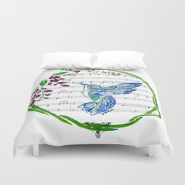 Carrier of Hope (Hummingbird and Wisteria) Duvet Cover