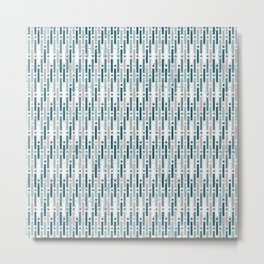 Summery stripes Blue Metal Print