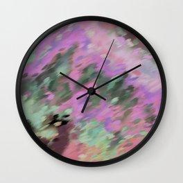 Green Below Wall Clock