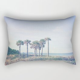 Seven Palm Trees Rectangular Pillow