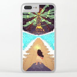The Heart of Te Fiti Clear iPhone Case