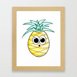 The Suprised Pineapple Framed Art Print