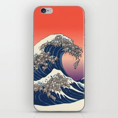 The Great Wave of Sloth iPhone & iPod Skin