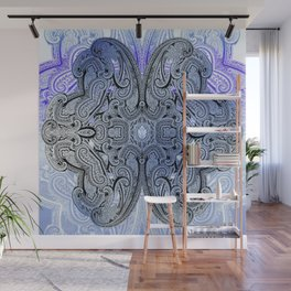 paisley star in royal blue Wall Mural