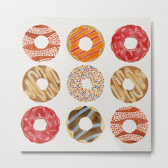 Half Dozen Donuts Metal Print