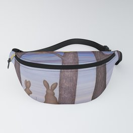brown bunnies in autumn Fanny Pack
