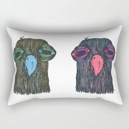 Bird Mask Rectangular Pillow