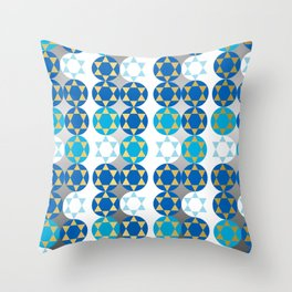 Star of David in Gold and Silver Throw Pillow