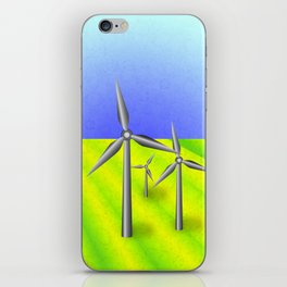 Windfarm in a field iPhone Skin