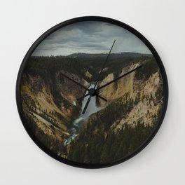 Yellowstone National Park Falls Wall Clock