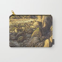 Rocky desert at sunset Carry-All Pouch