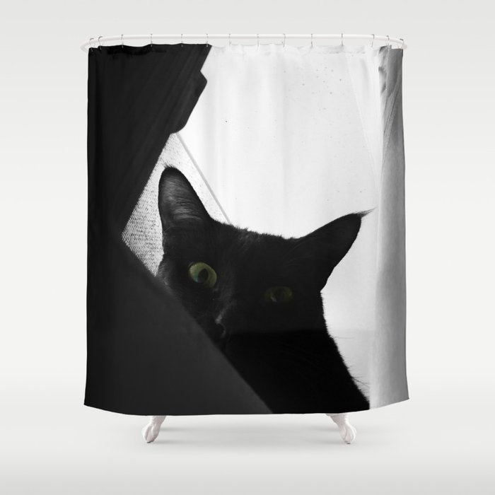 Loko's Dark Intentions: You Are Beneath Me Shower Curtain